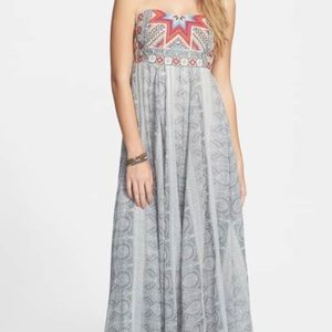 Dresses & Skirts - Rip curl strapless maxi with embroidered detail